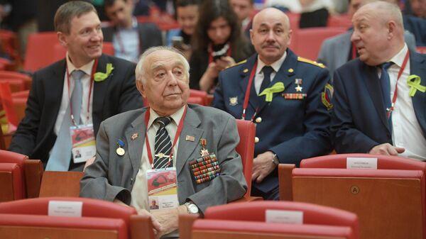 Ветеран Великой Отечественной войны Исаак Михайлович Морштейн во время IX Международного форума Победителей Великая Победа, добытая единством. 25 апреля 2019