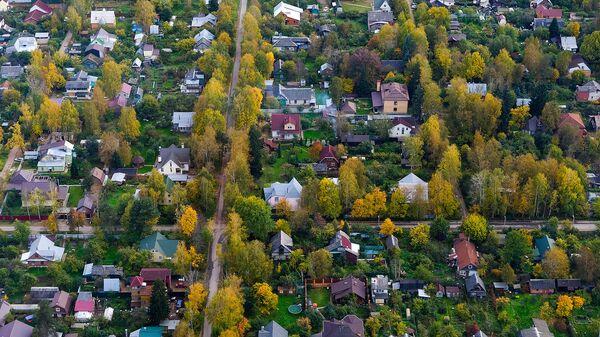 Вид на дачный поселок в Московской области