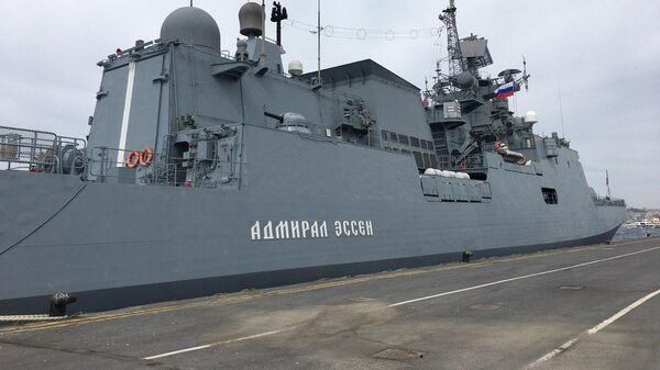 Новейший фрегат ЧФ РФ Адмирал Эссен представлен на оборонной выставке IDEF-2019 в Стамбуле