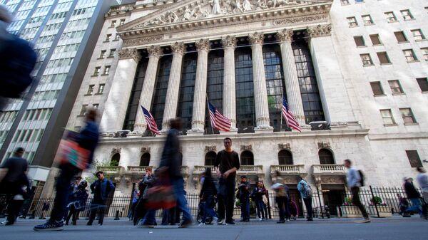 Нью-Йоркская фондовая биржа расположенная на Уолл-Стрит