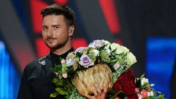 Певец Сергей Лазарев на Международном конкурсе молодых исполнителей популярной музыки Новая Волна 2016 в Сочи