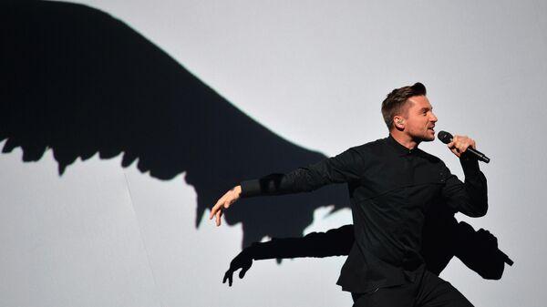 Сергей Лазарев (Россия) во время генеральной репетиции финала 61-го международного конкурса песни Евровидение 2016 в Стокгольме