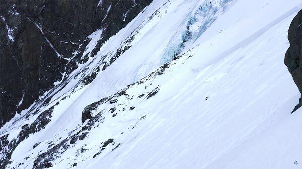 Место схода лавины в Кош-Агачском районе
