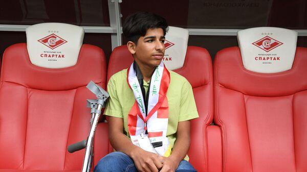 Касим Алькадим из Ирака посетил футбольный матч в Москве