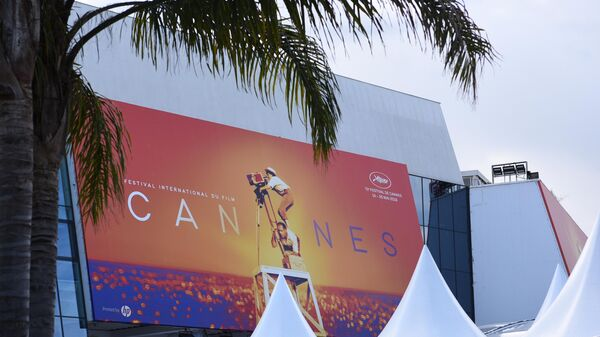 Дворец фестивалей и конгрессов перед открытием 72-го Каннского международного кинофестиваля