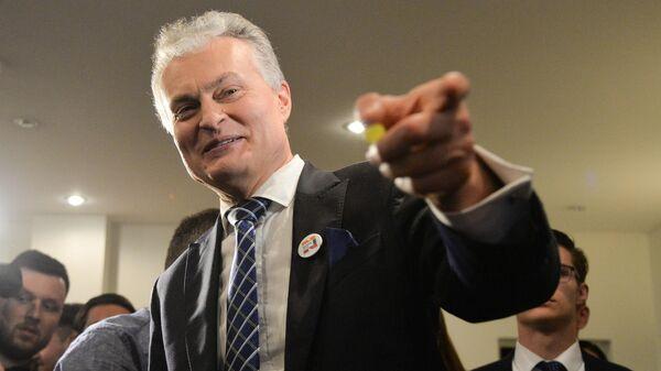 Кандидат в президенты Литвы, экономист Гитанас Науседа. Архивное фото