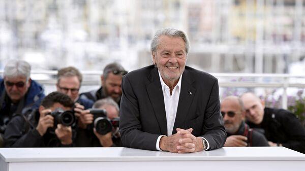 Французский актер Ален Делон на фотосессии в рамках 72-го Каннского международного кинофестиваля. 19 мая 2019