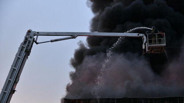 Пожар в автоцентре Hyundai в Кемерово. 20 мая 2019