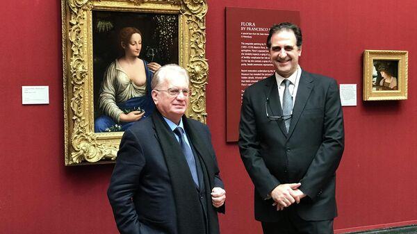 Директора Эрмитажа и лондонской Национальной галереи Михаил Пиотровский и Габриэле Финальди