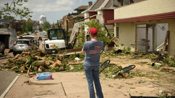 Последствия торнадо в Джефферсон-Сити американского штата Миссури. 23 мая 2019