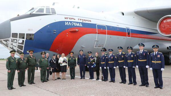 Самолет Ил-76МД Игорь Груднов авиации Росгвардии
