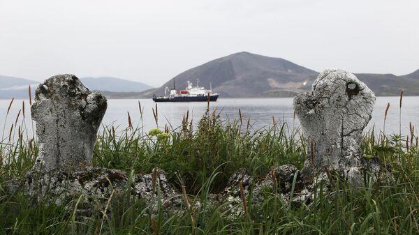 Древнее эскимосское сооружение Китовая аллея на острове Ыттыгран в Чукотском автономном округе