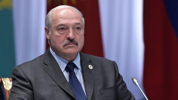 Президент Белоруссии Александр Лукашенко во время заседания Высшего Евразийского экономического совета, приуроченном к пятилетию подписания Договора о Евразийском экономическом союзе, во Дворце независимости в Нур-Султане. 29 мая 2019