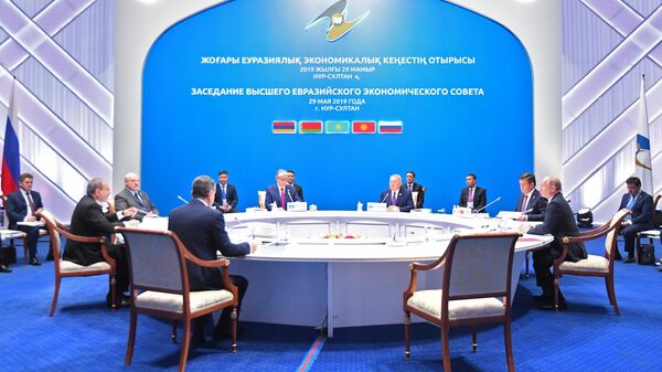 Президент РФ Владимир Путин во время заседания Высшего Евразийского экономического совета