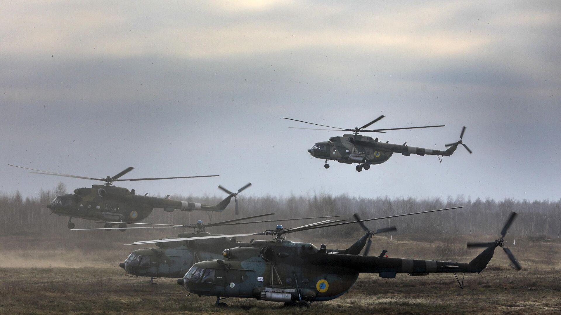 Вертолеты Ми-8 ВС Украины - РИА Новости, 1920, 20.01.2021