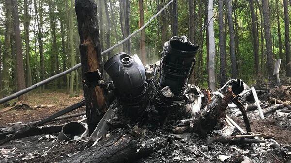 На месте крушения вертолета Ми-8 ВС Украины в Ровенской области