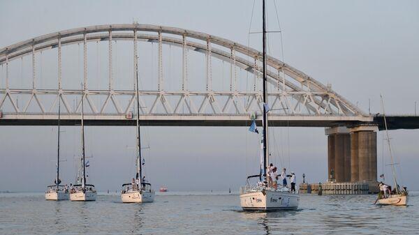 Мост, построенный через Керченский пролив