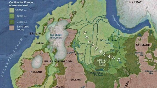 Доггерленд - территория, занимавшая южную часть Северного моря и соединявшая Британию с материковой Европой