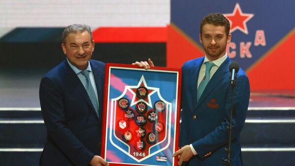 Илья Сорокин (справа) и Владислав Третьяк
