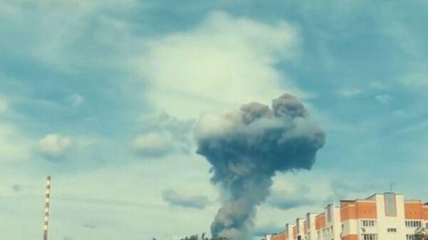 Момент второго взрыва в Дзержинске попал на видео