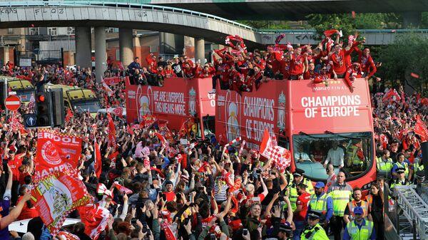Парад в честь победы Ливерпуля в Лиге чемпионов