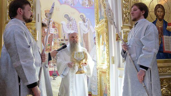Митрополит Варсонофий на освящении храма Ксении Блаженной в Петербурге