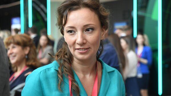 Уполномоченный при президенте РФ по правам ребенка Анна Кузнецова на Петербургском международном экономическом форуме 2019