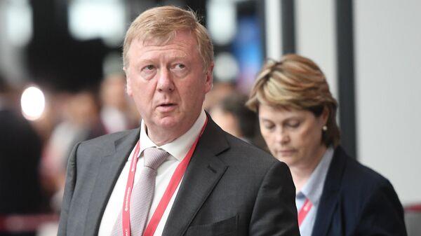 Председатель правления УК Роснано Анатолий Чубайс на Петербургском международном экономическом форуме 2019