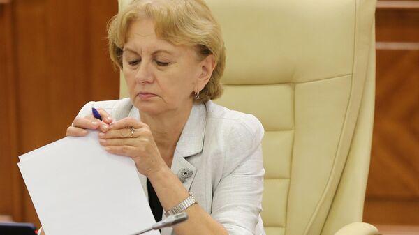 Председатель Парламента Молдавии Зинаида Гречаный на заседании парламента Молдавии в Кишиневе