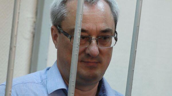 Экс-глава Республики Коми Вячеслав Гайзер во время оглашения приговора в Замоскворецком суде Москвы