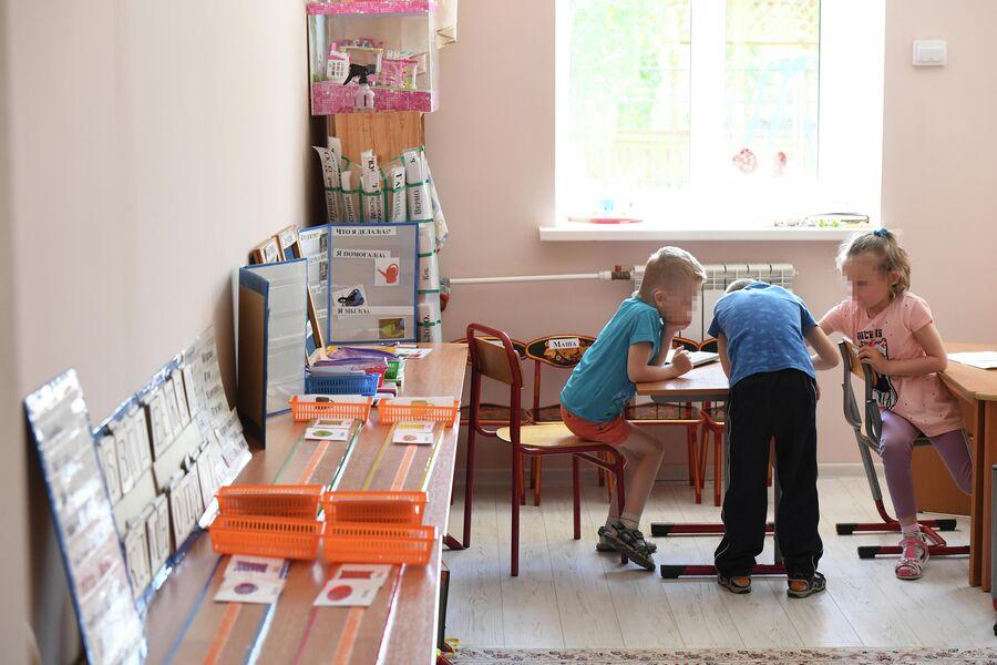 Учащиеся Сергиево-Посадского дома-интерната слепоглухих для детей и молодых инвалидов