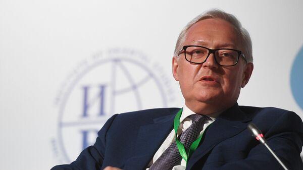 Заместитель министра иностранных дел России Сергей Рябков во время международного форума Примаковские чтения
