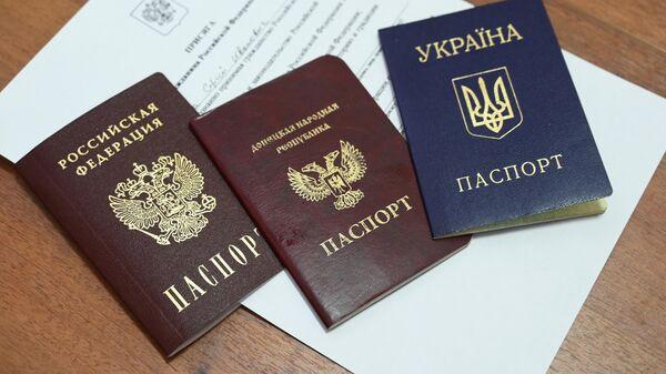 Паспорта России, Донецкой Народной Республики и Украины