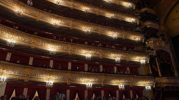 Ложи в зрительном зале Государственного академического Большого театра России (ГАБТ).