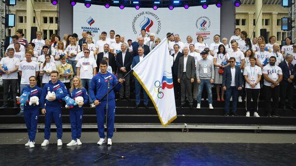 Самбист Артем Осипенко во время XXX Всероссийского олимпийского дня в Москве. 16 июня 2019
