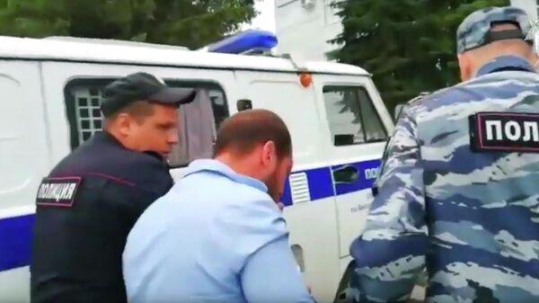 Задержанный участник конфликта в Чемодановке