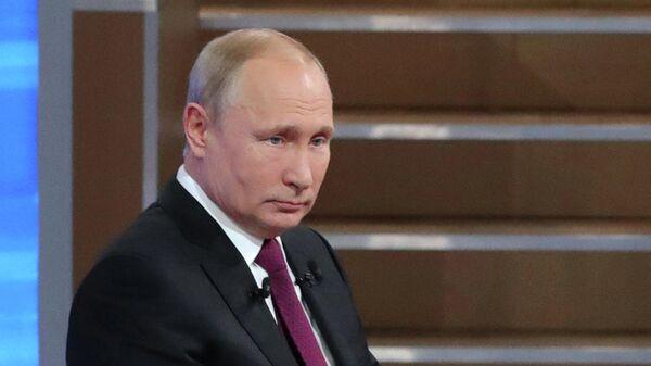 Прямая линия с президентом РФ Владимиром Путиным. 20 июня 2019