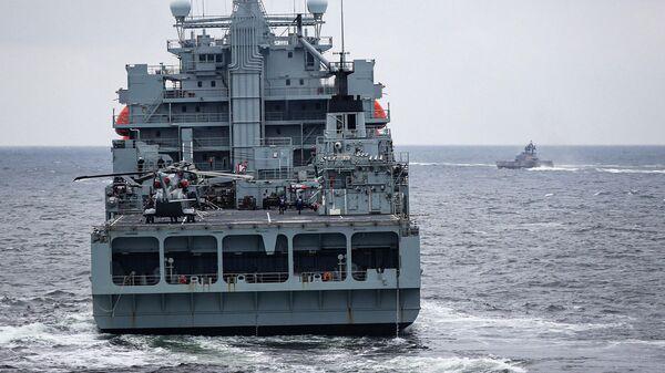 Корабль Его Величества Альбион на учениях Baltops 19 проходящих на территории Литвы и Швеции