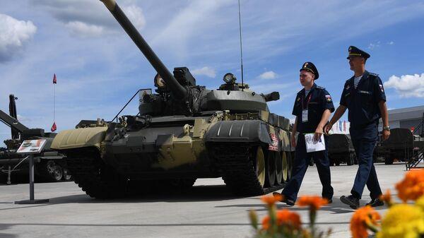 Средний танк Т-55А на Международном военно-техническом форуме Армия-2019