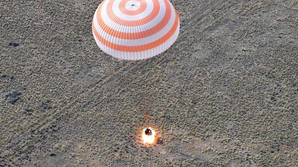 Посадка пилотируемого корабля  Союз МС-11. 25 июня 2019