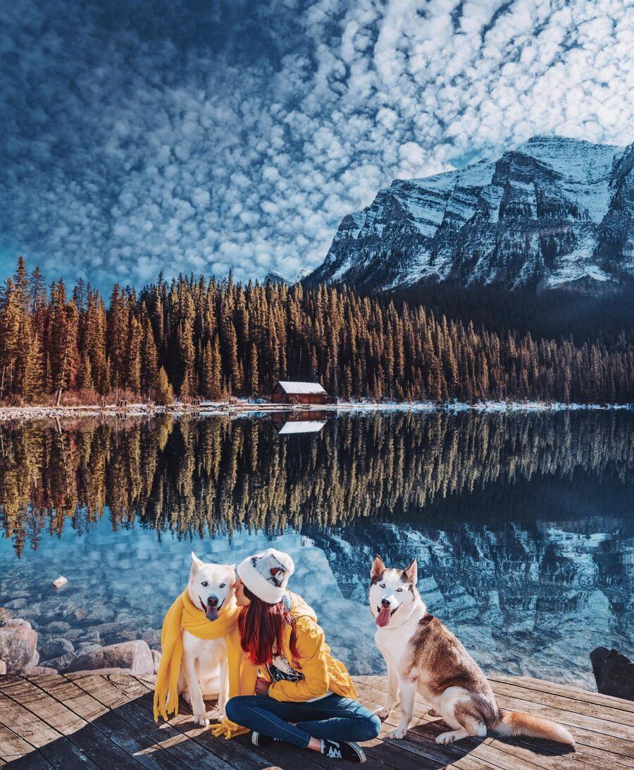 Озеро Луис в Канаде