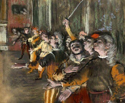 Картина художника Эдгара Дега Les Choristes (1877)