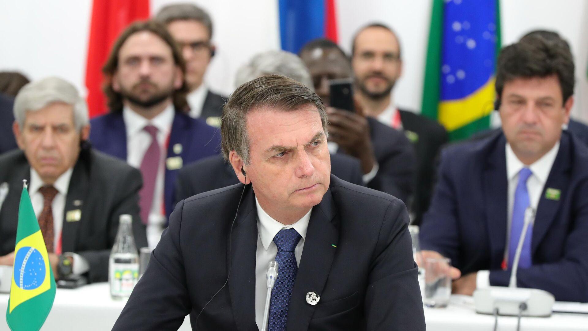 Президент Бразилии Жаир Болсонару на саммите Группы двадцати  - РИА Новости, 1920, 21.08.2020