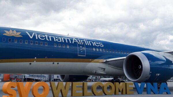 Самолет авиакомпании Vietnam Airlines в аэропорту Шереметьево