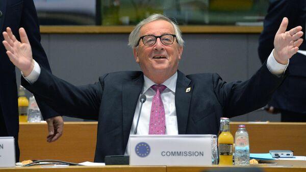 Председатель Европейской комиссии Жан-Клод Юнкер на саммите ЕС в Брюсселе