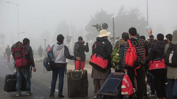 Беженцы в Кале во Франции