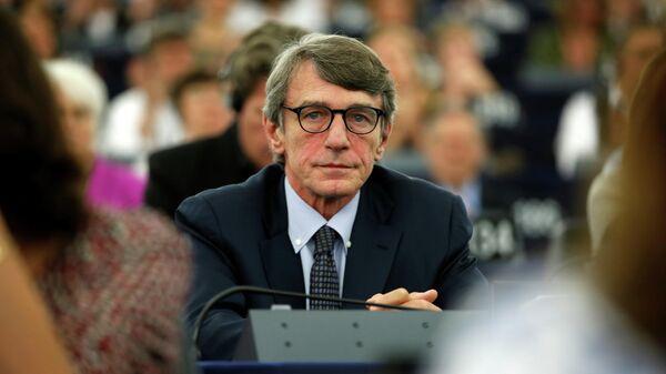 Итальянский депутат Европарламента Давид Сассоли на заседании по выборам нового президента Европейского парламента в Страсбурге. 3 июля 2019