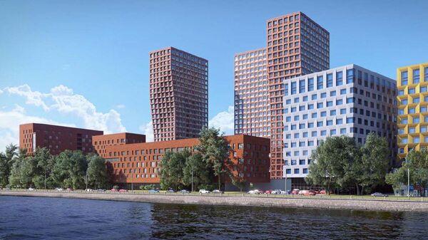 Проект многофункционального комплекса с подземным паркингом на Варшавском шоссе в Москве