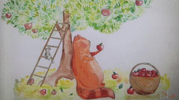 Алискины открытки. Рисунок десятилетней угличской художницы Алисы Капустиной