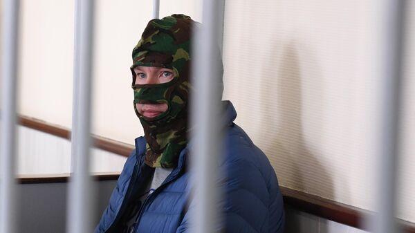 Задержанный Федеральной службой безопасности Александр Воробьев в Лефортовском суде Москвы. 5 июля 2019